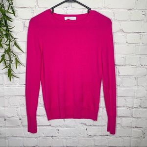 Everlane Cashmere Crewneck in hot berry small